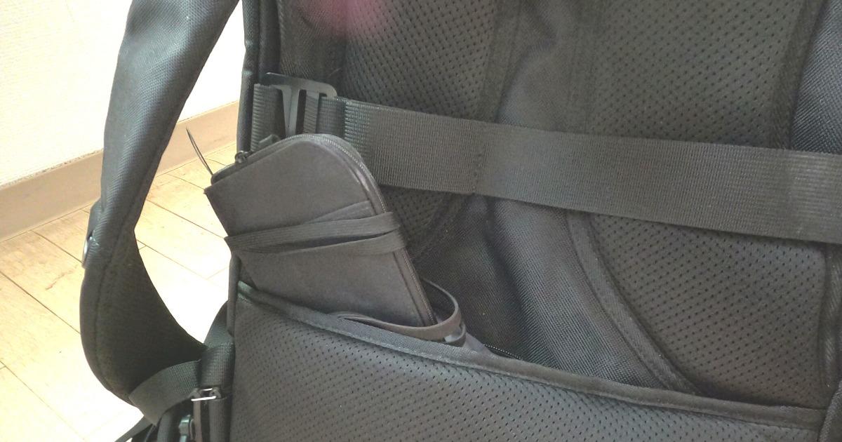 大容量リュックInateckの特徴⑨背面ポケットがあれば海外旅行も安心