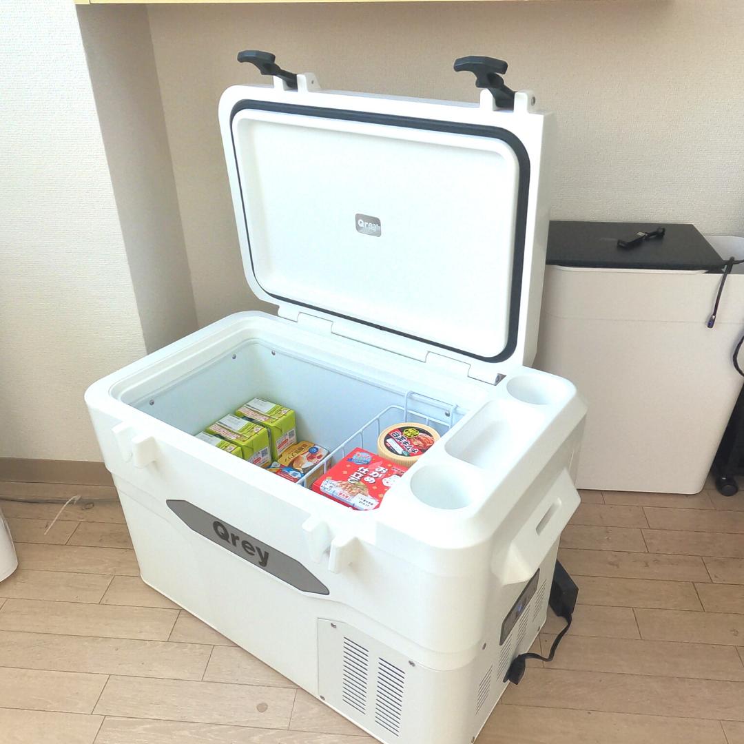 クラウドファンディングで購入したQreyの車載冷蔵庫